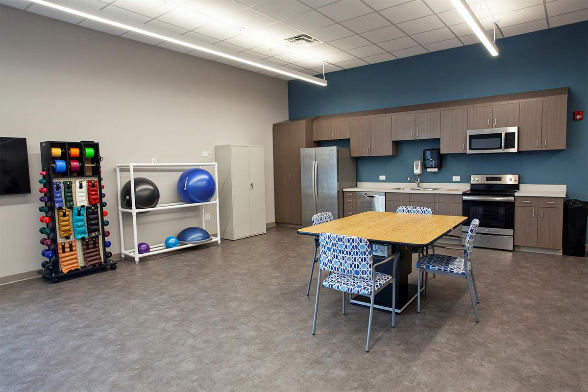 Practice your day-to-day activities in our therapy kitchen.