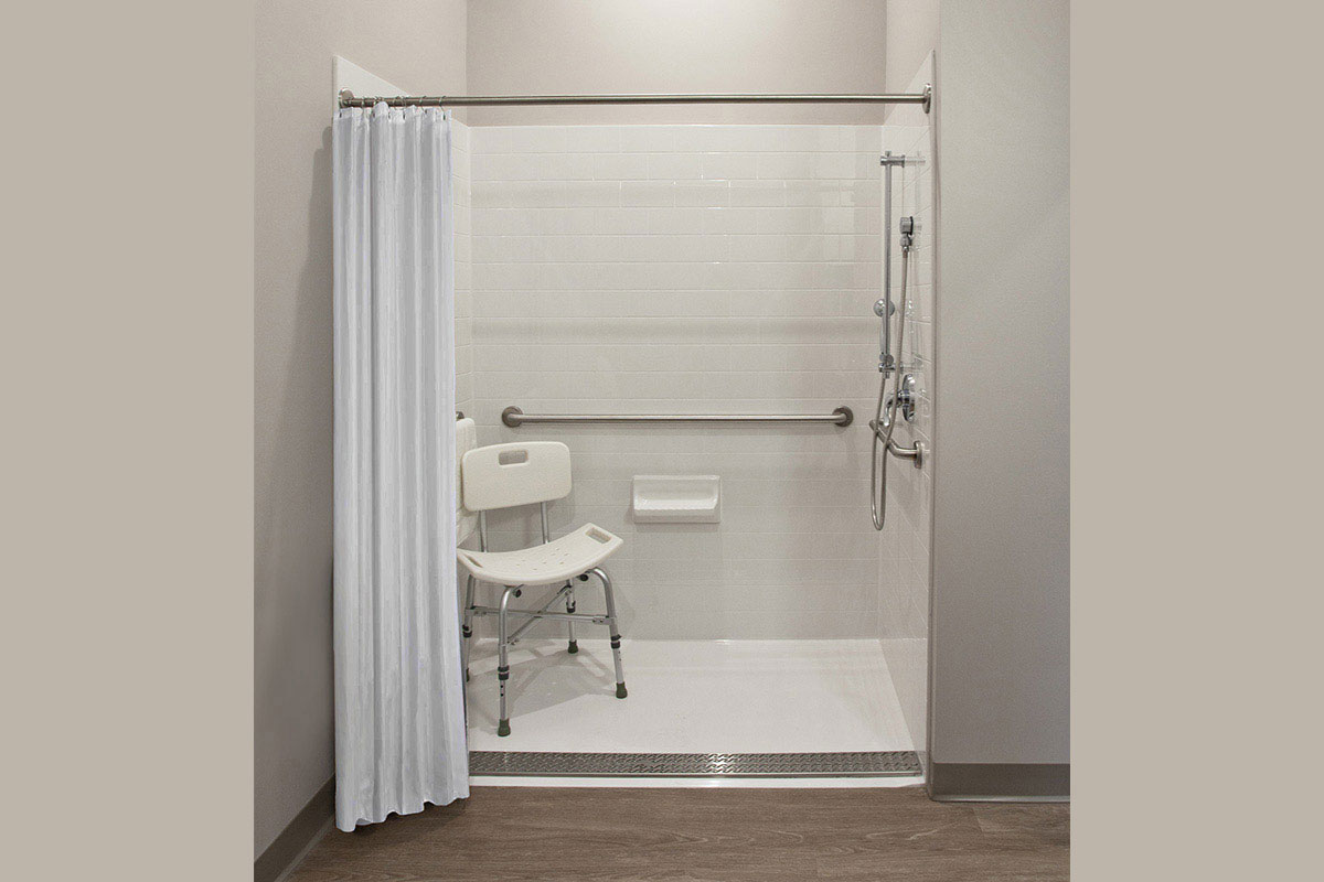Private and easily accessible en-suite shower.